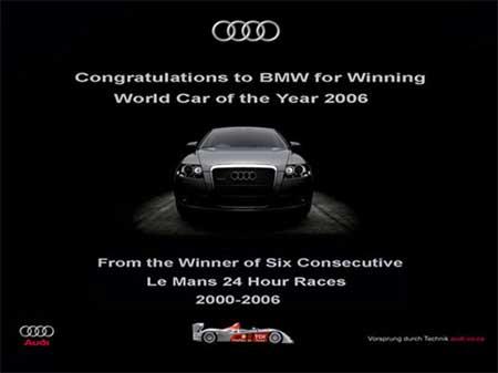 Congratulations to BMW