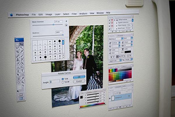 Photoshop Magnet Kit on Fridge