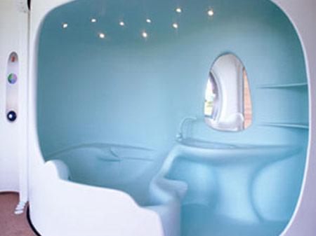 Hanse-Colani Rotor House Bathroom