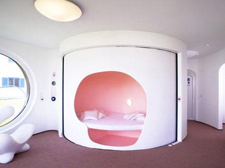 Hanse-Colani Rotor House Bedroom